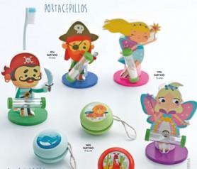 Portacepillos de hada y pirata con reloj de arena como regalo infantil para regalar en bodas bautizos y comuniones