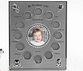 Marco de fotos primer año del bebé para poner una foto durante los 12 primeros meses de vida