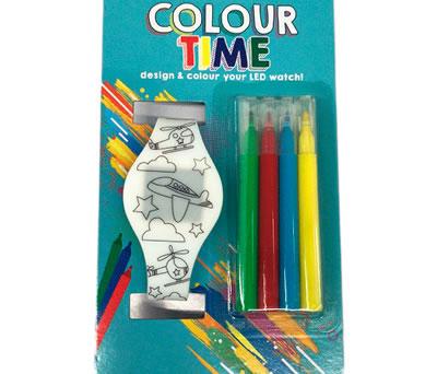 reloj silicona para colorear con rotuladores ideal para regalar a los niños en bodas y comuniones