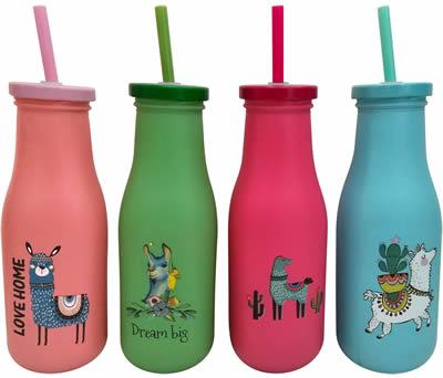 Vasos llamas como detalle de comunión para las niños invitados