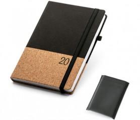 Agenda 2020 en corcho y poliester con posibilidad de personalizarla para tu empresa