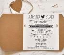 Diseño e información de la invitación de boda 2020