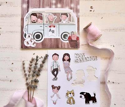 Invitación boda 2020 mis papas se casan en furgoneta