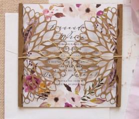 Invitación de boda 2020 con solapa troquelada