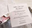 Invitación de boda 2020 flora con tarjetón en papel vegetal y tarjeta a juego