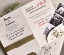 Invitación de boda 2020 novios con forro de sobre y posibilidad de incluir fotografías