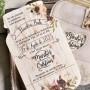 Texto invitación de boda en forma de tarro con portada en papel vegetal