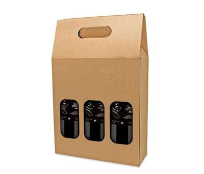 caja de cartón para 3 botellas como complemento de tus detalles para tus invitados