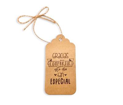 etiquetas gracias por compartir este día tan especial con cordón para los detalles de bodas o comuniones