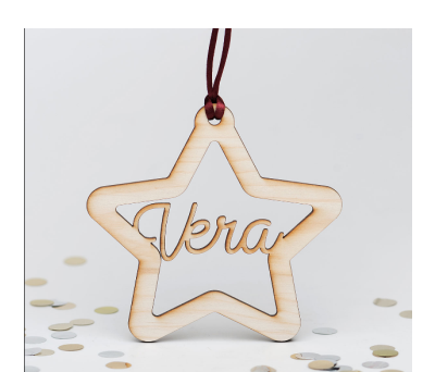 Adorno de Navidad silueta - Estrella AWL-2333243
