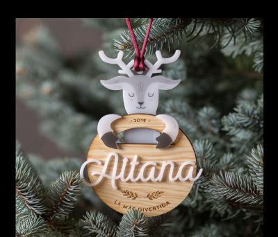 Bola de Navidad personalizada - Abrazo Reno AWL-3877340