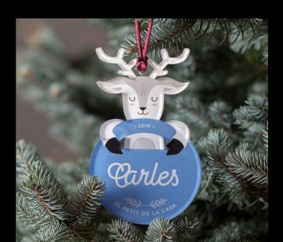 Bola de Navidad personalizada - Abrazo Reno color AWL-7122216