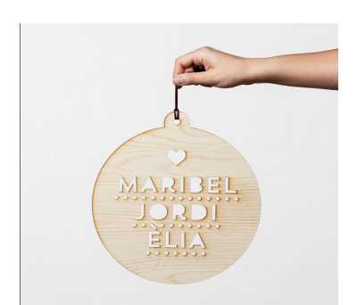 Bola de navidad XL madera AWL-9312103
