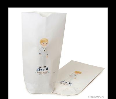 Bolsa papel blanco niño Comunión marinerito12x21X5cm..min.25 AE754