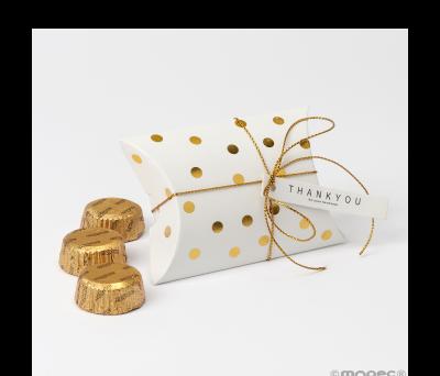 Estuche 3 bombones topos dorado 9.3x6.5x2.5cm.* - ANEB642.11
