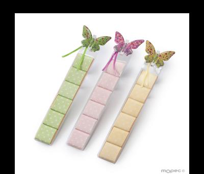 Estuche 6 napolitanas mariposa metálica 3 surtido. min3* AEB172