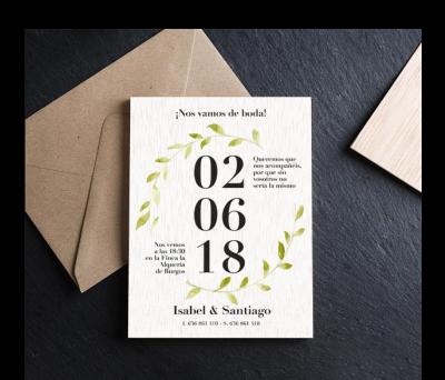 Invitación boda madera Date AWL-5465932