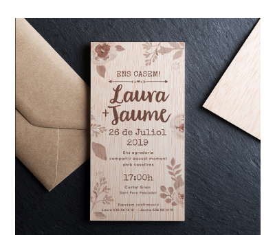 Invitación boda madera Fauna AWL-3482753