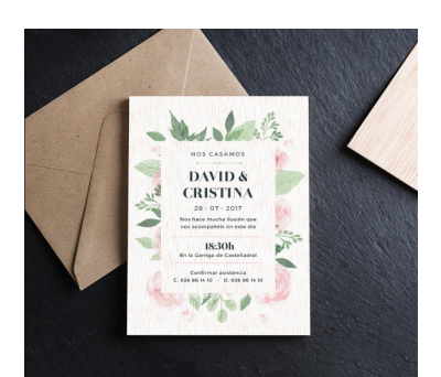 Invitación boda madera Forest AWL-1512615