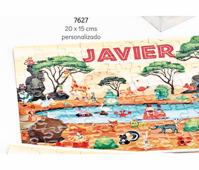 PUZLE 80 PIEZAS ANIMALES SABANA NOMBRE PERSONALIZADO. 20 x 15 cms. ADOP7627