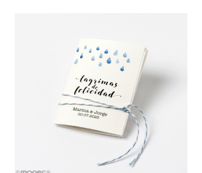 Pañuelo Lágrimas de Felicidad 5.3x7.5cm min.32 - AXA615.1