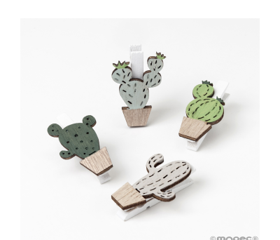 Pinza madera Cactus 4mod stdo. 2.5x3.7cm min.8 AW1983