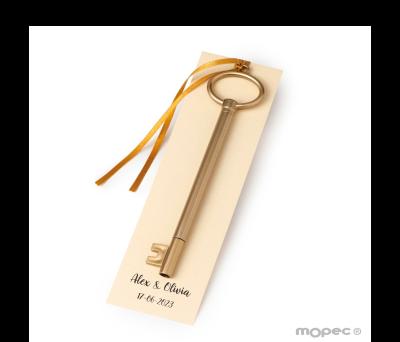 Rotulador llave dorada adornada y punto de libro AAA147