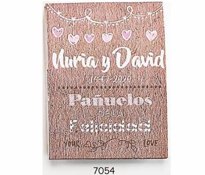"""SOBRE """"LÁGRIMAS DE FELICIDAD"""" GUIRNALDA CON 1 PAÑUELO. PERSONALIZADO. (MÍNIMO 15 uds.). ADOP7054"""