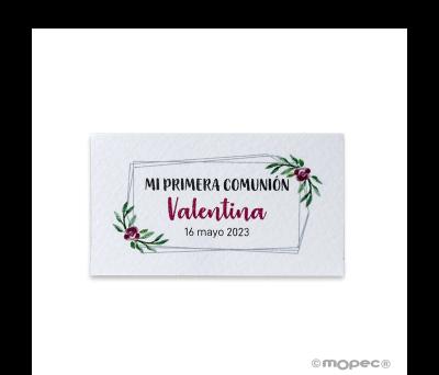 Tarj. precortadas doble marco y flores 30xhj..min.5 AX9175