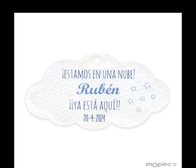 Tarjeta nube con estrellas azules (preciox24u.) min.24 - AX301.03