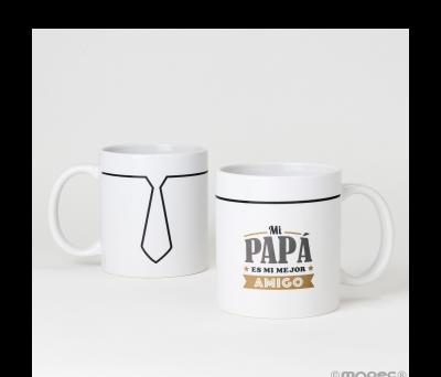 Taza cerámica Mi papá es...mejor amigo en caja regalo - AG475.1
