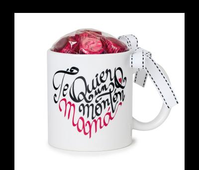 Taza cerámica Te Quiero un Montón Mamá 6bombones caja regalo - AGB482.1