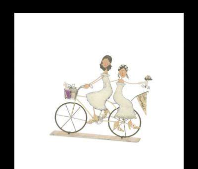 Pareja dos chicas en bici para detalles de invitadosABIS1291