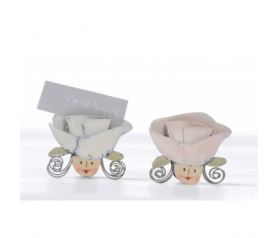 Porta tarjetas cabeza novia rosa para detalles de invitadosABIS3130