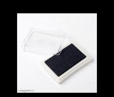 Almohadilla 7.5x5.2cm. de tinta negra para sellos - AK39.07