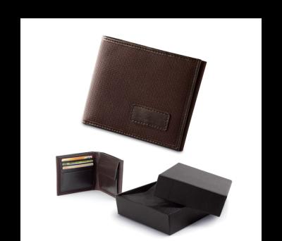 Billetera de piel y tejido - st-93248.01