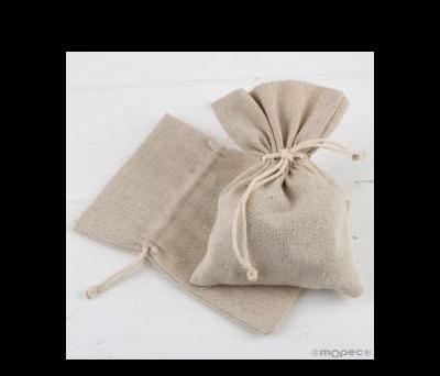 Bolsa algodón beige 10,5x14,5cm., - AA249.13