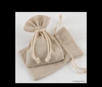 Bolsa algodón beige7,5x10cm., - AA2490.13