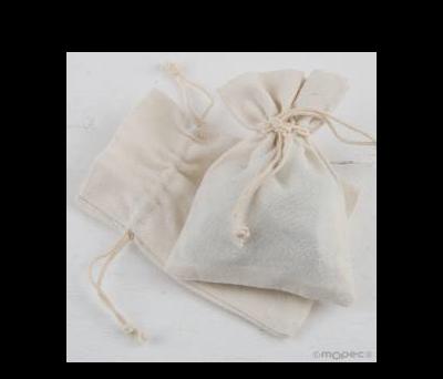 Bolsa algodón marfil 10x14cm.  - AA2400.23