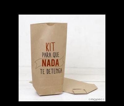 Bolsa Kraft Kit Para que nada te detenga 18x32cm.. - AE873.14.1