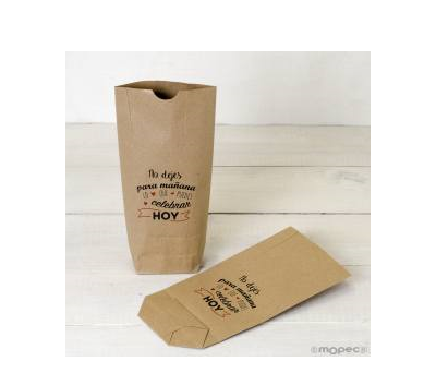 Bolsa Kraft No dejes para mañana.rojo 12x22.5cm. - AE673.14.1