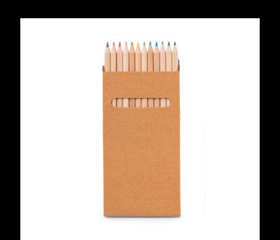 Caja de cartón con 12 lápices de color - st-91746
