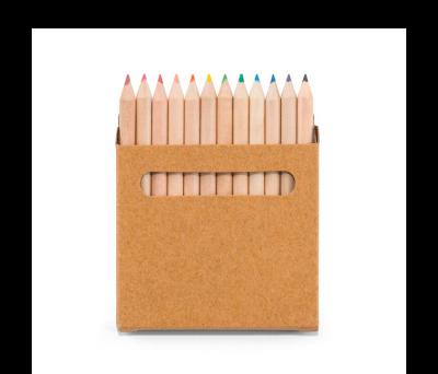 Caja de cartón con 12 lápices de color - st-91747