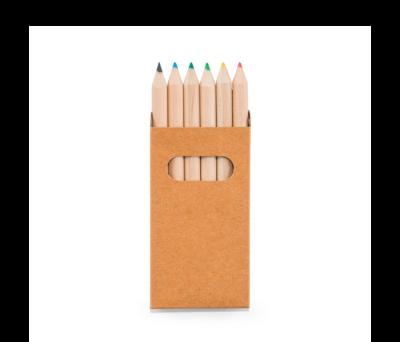 Caja de cartón con 6 lápices de color - st-91750