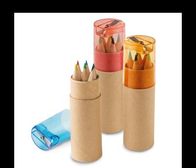Caja de cartón con 6 lápices de color - st-91751.10