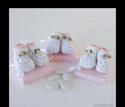 Cajas rosa top/ray/cuad Botitas, stda. 5 pel.choc.,  - AAEP1406.2