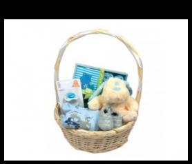 Cesta para recién nacido azul para detalles de invitadosAP2943P70