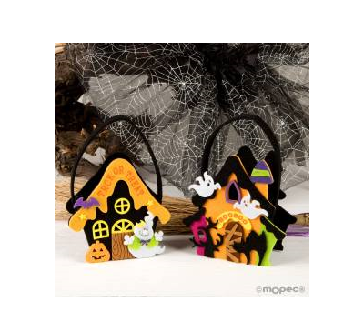 Cestito fieltro Casa Halloween 21cm.(asas) stdo., AHA902