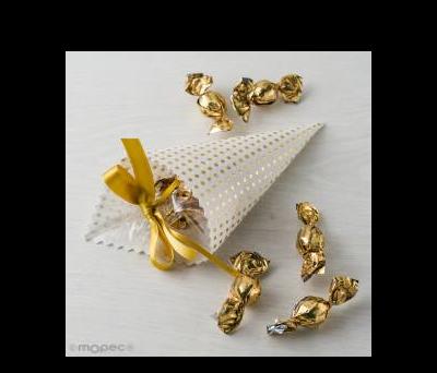 Cono topos dorados 5croki-choc - AAD156.11