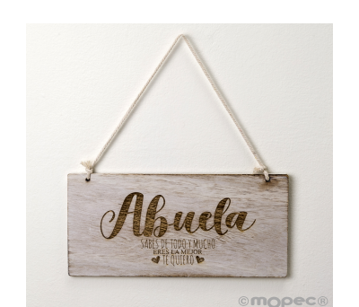Cuadro madera Abuela 22.5x11.5cm. - AW950.2.1